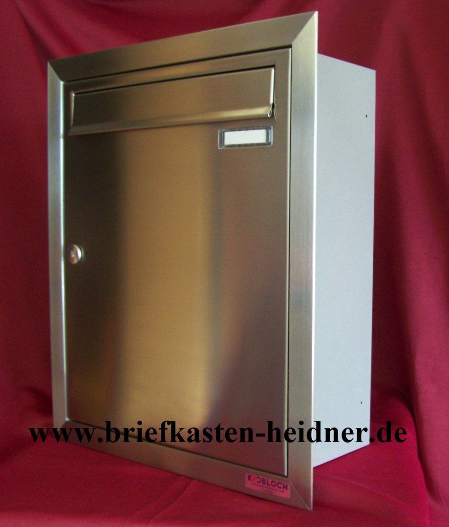 uph04 knobloch unterputz briefkasten 1 teilig tiefe 160 rahmen te110 edelstahl www. Black Bedroom Furniture Sets. Home Design Ideas
