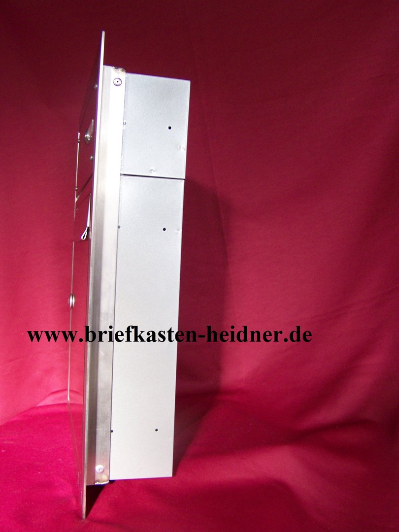 uph05 knobloch unterputz briefkasten 1 teilig tiefe 100 rahmen te110 1 klingel edelstahl. Black Bedroom Furniture Sets. Home Design Ideas
