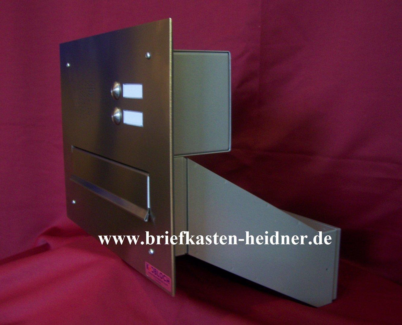mdh40 knobloch mauerdurchwurf briefkasten anlage 300 1 tlg variable tiefe 2 klingeln. Black Bedroom Furniture Sets. Home Design Ideas