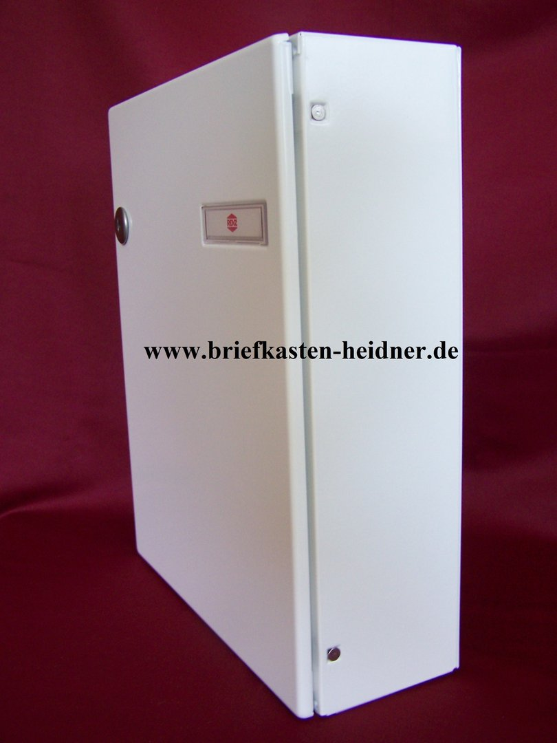 ith12 renz durchwurf briefkasten 260x330 tiefe 100 wei. Black Bedroom Furniture Sets. Home Design Ideas