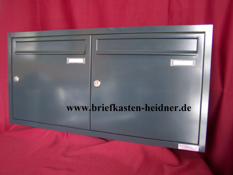 uph19 knobloch unterputz briefkastenanlage 2 teilig. Black Bedroom Furniture Sets. Home Design Ideas
