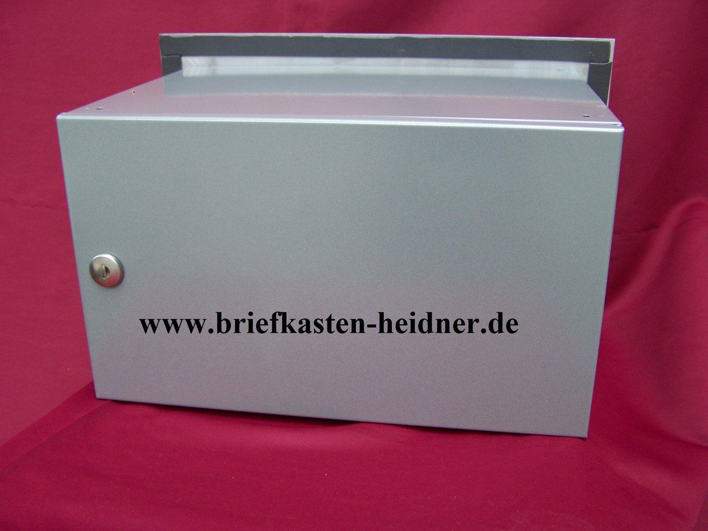mdh16 knobloch mauerdurchwurf briefkasten 1 teilig fixtiefe 270 mm edelstahl grau www. Black Bedroom Furniture Sets. Home Design Ideas