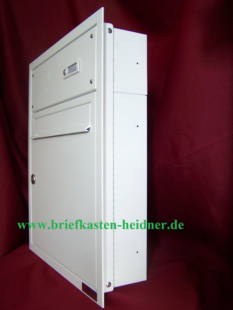 uph07 knobloch unterputz briefkasten 1 teilig tiefe 100 rahmen te110 1 klingel wei www. Black Bedroom Furniture Sets. Home Design Ideas