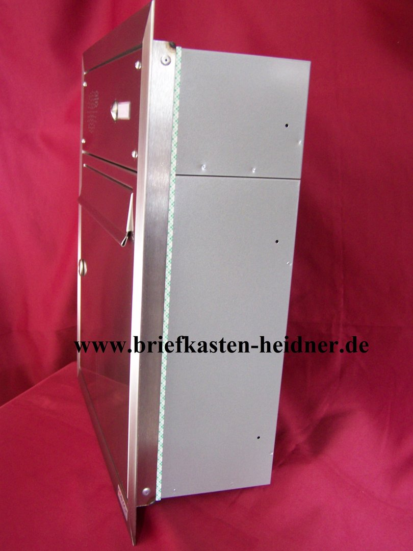 uph12 knobloch unterputz briefkasten 1 klingel edelstahl tiefe 160. Black Bedroom Furniture Sets. Home Design Ideas