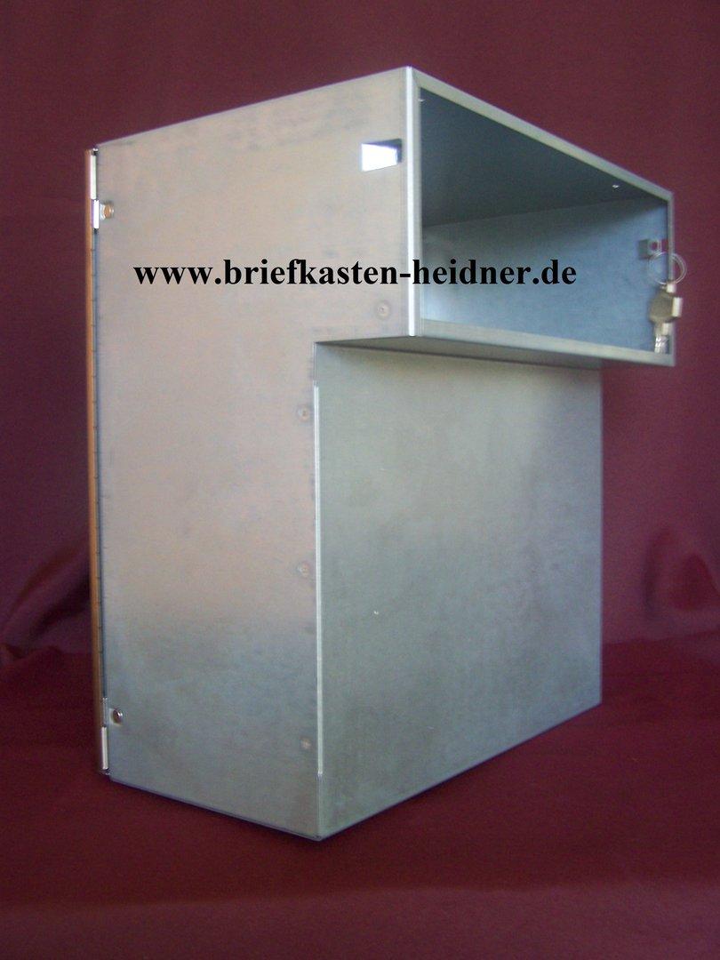 mdh31 renz mauerdurchwurf briefkasten jumbo 300er fixtiefe 205mm t r grau wei oder. Black Bedroom Furniture Sets. Home Design Ideas