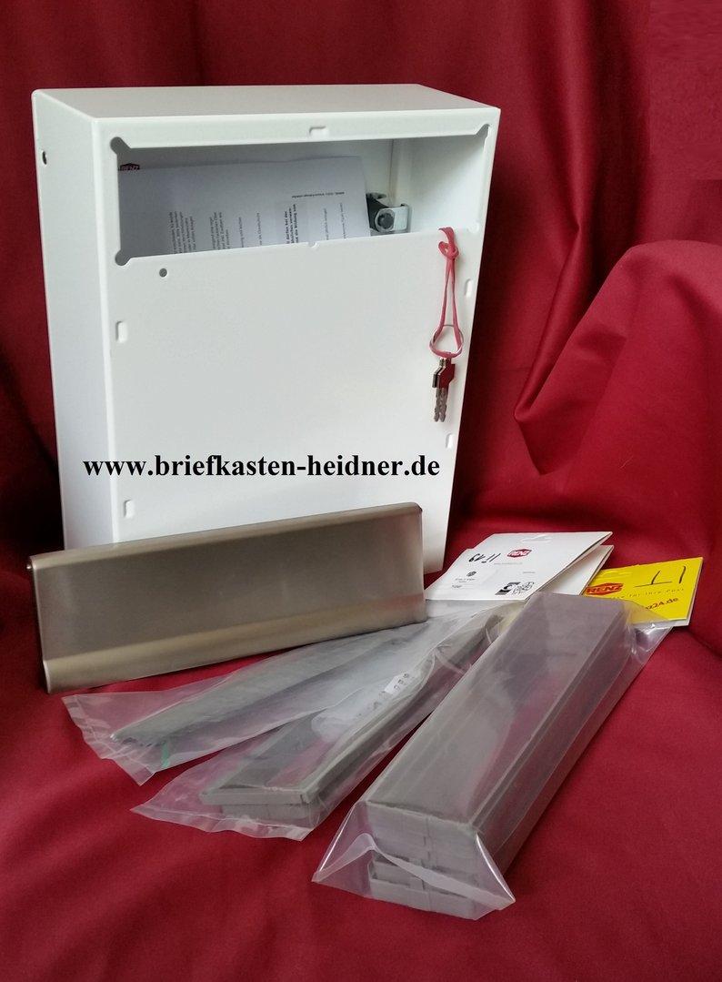 KAH45: Renz-Innentür-Briefkasten-Komplettset 260, weiß / Edelstahl ...