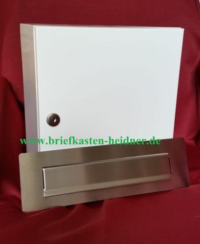 Durchwurf Briefkasten Postkasten Edelstahl 300 mm breit Entnahme hinten ITH105