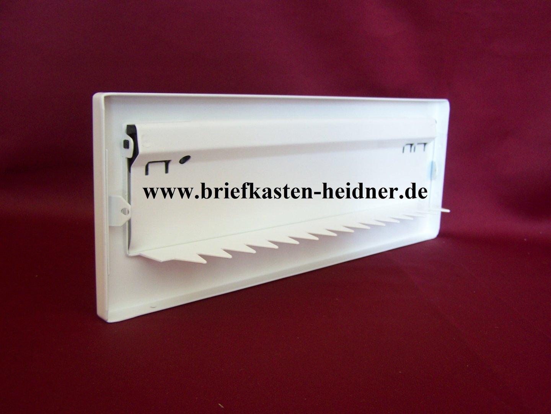 mdh13 w renz frontplatte f r mauerdurchwurfanlage 300 er zeitungseinwurfklappe wei www. Black Bedroom Furniture Sets. Home Design Ideas