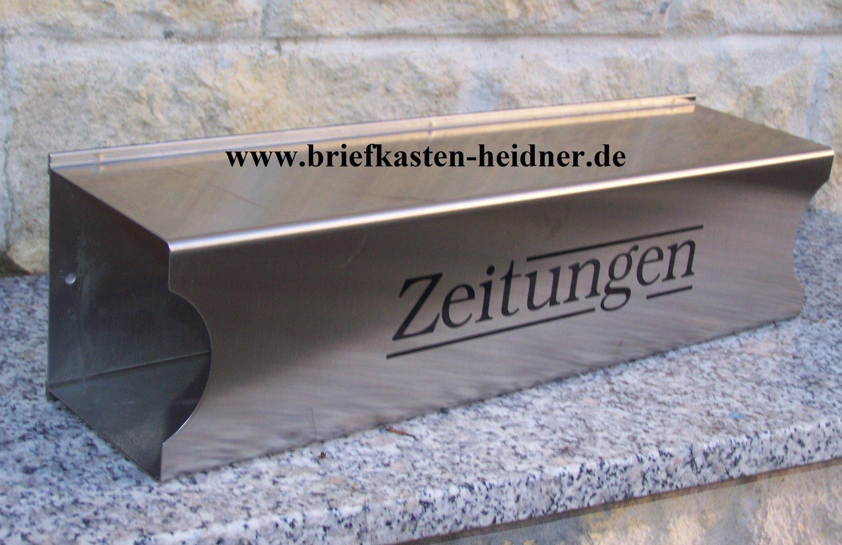 zfh03 knobloch zeitungsfach vermont dz2000 7 edelstahl mit siebdruck briefkastenanlagen. Black Bedroom Furniture Sets. Home Design Ideas