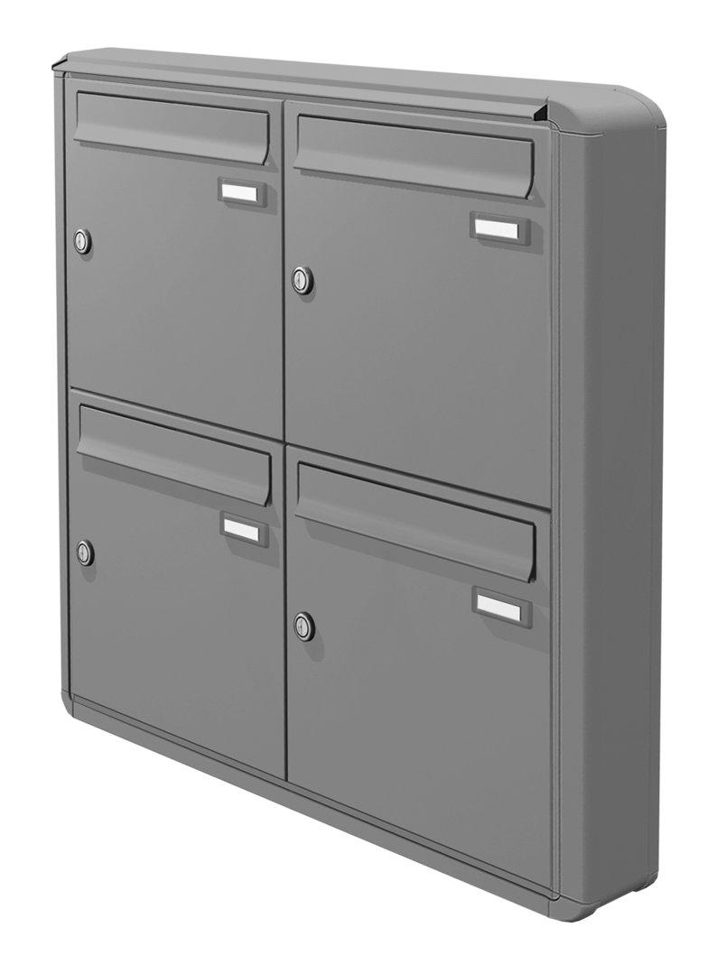 aph105 aufputz briefkasten 4 tlg tiefe 100 verkleidung ri220 farbauswahl. Black Bedroom Furniture Sets. Home Design Ideas