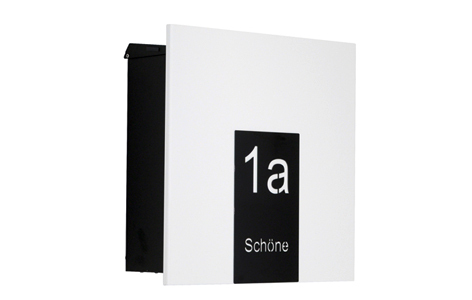 ekh66 knobloch aufputz briefkasten como wei gravur. Black Bedroom Furniture Sets. Home Design Ideas