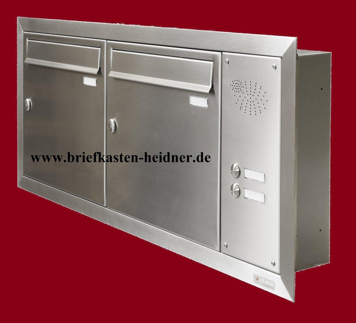 uph116 knobloch unterputz briefkastenanlage 2 tlg tiefe 100 nebeneinander 2 klingeln. Black Bedroom Furniture Sets. Home Design Ideas