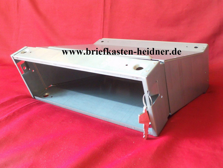 Mauerdurchwurf Briefkasten Renz 300 mm tiefenverstellbar grau Wand Einbau MDH28