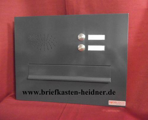 Frontplatte Briefeinwurf Mauerdurchwurf Briefkasten 300 Edelstahl Klingel BEH103