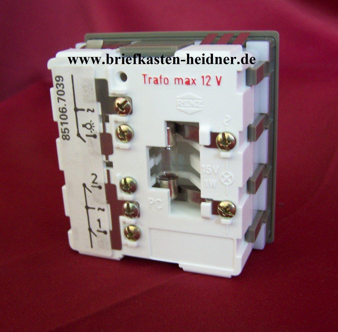 eth23 renz ersatzteil tastermodul 97 9 85275 licht 2. Black Bedroom Furniture Sets. Home Design Ideas
