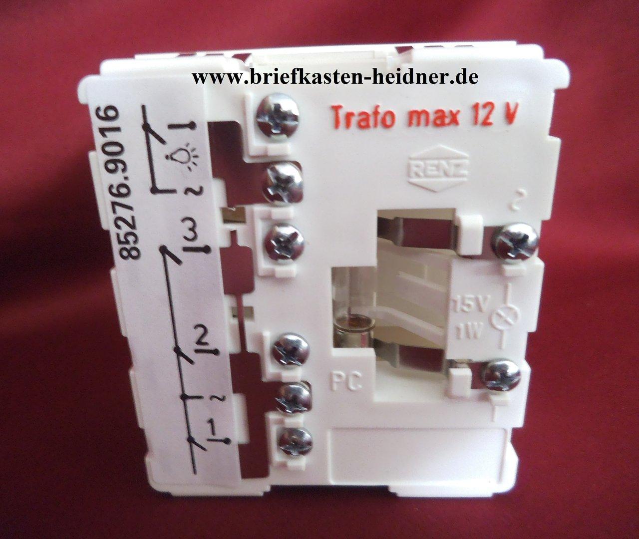 eth25 renz ersatzteil tastermodul 97 9 85276 licht 3. Black Bedroom Furniture Sets. Home Design Ideas