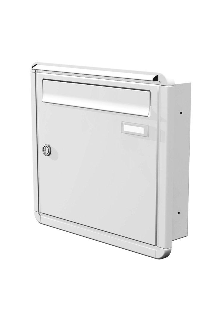 uph121 knobloch unterputz briefkasten 1 teilig tiefe. Black Bedroom Furniture Sets. Home Design Ideas