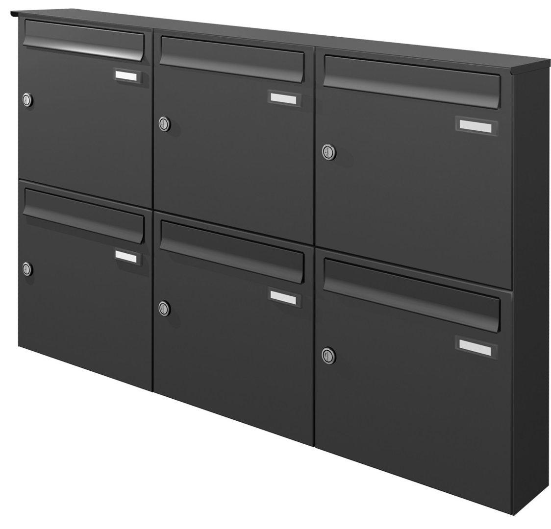 aph116 knobloch aufputz briefkasten 6 tlg tiefe 100 verkleidung ri244 farbauswahl. Black Bedroom Furniture Sets. Home Design Ideas