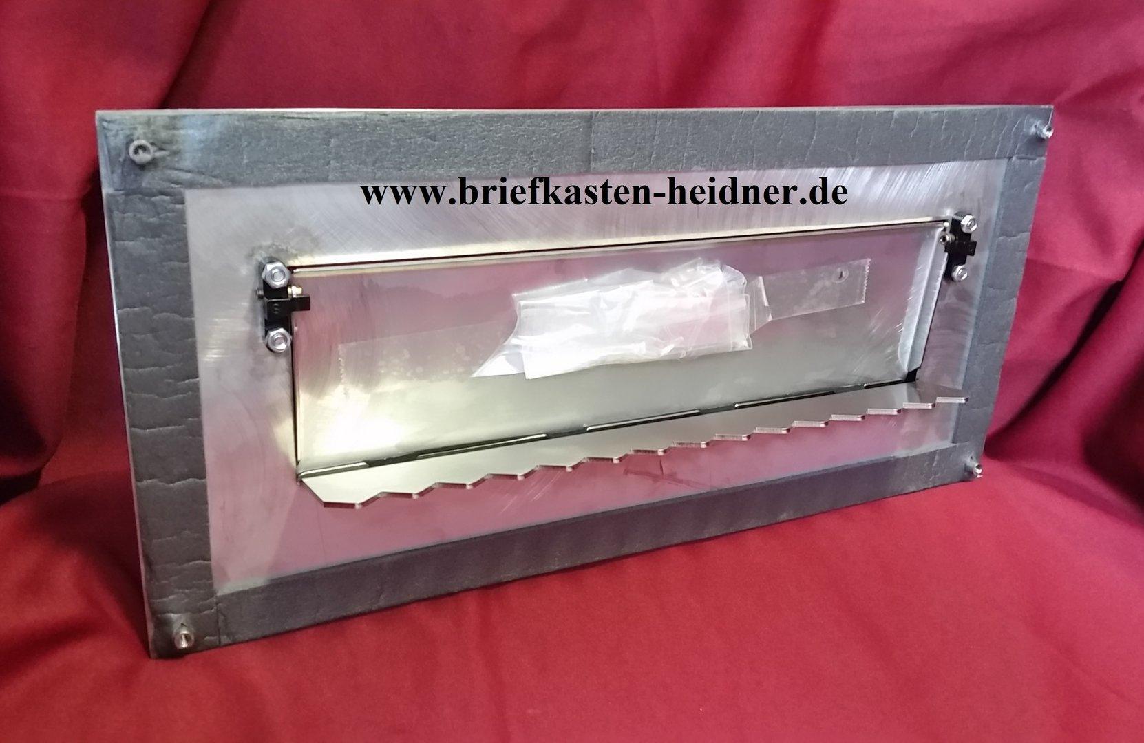 beh114 knobloch frontplatte mit zeitungseinwurfklappe verdeckte befestigung edelstahl www. Black Bedroom Furniture Sets. Home Design Ideas