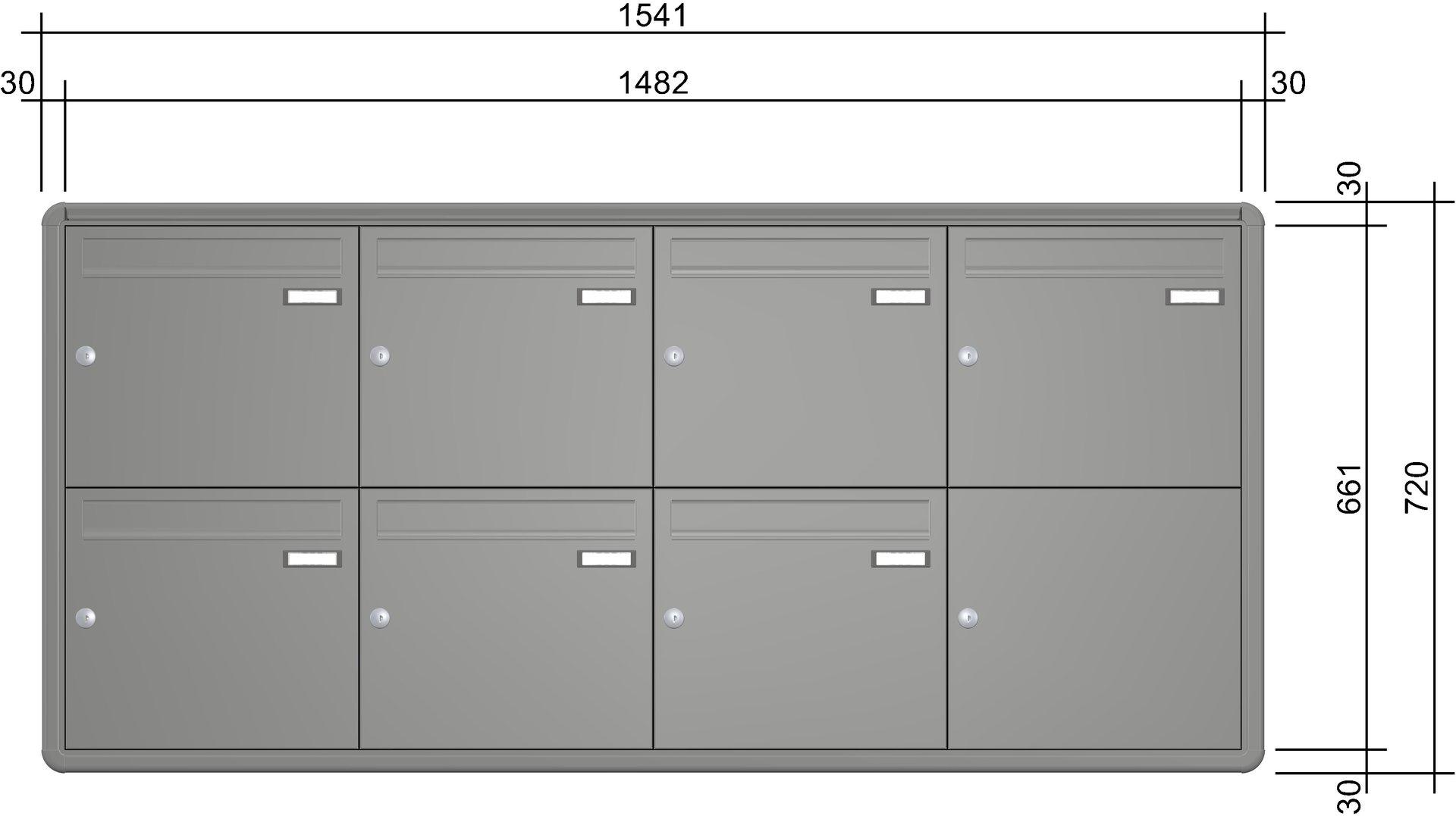 uph135 knobloch unterputz briefkastenanlage 7 teilig. Black Bedroom Furniture Sets. Home Design Ideas