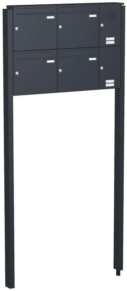 FAH170: freistehende Briefkastenanlage Briefkastensystem, 4-tlg ...