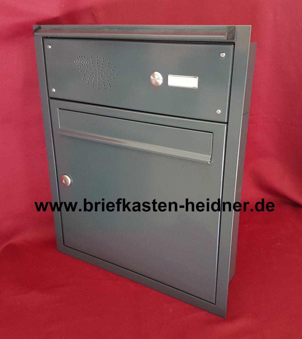 uph167 knobloch unterputz briefkastenanlage 1 klingel te110 regenleiste farbauswahl www. Black Bedroom Furniture Sets. Home Design Ideas