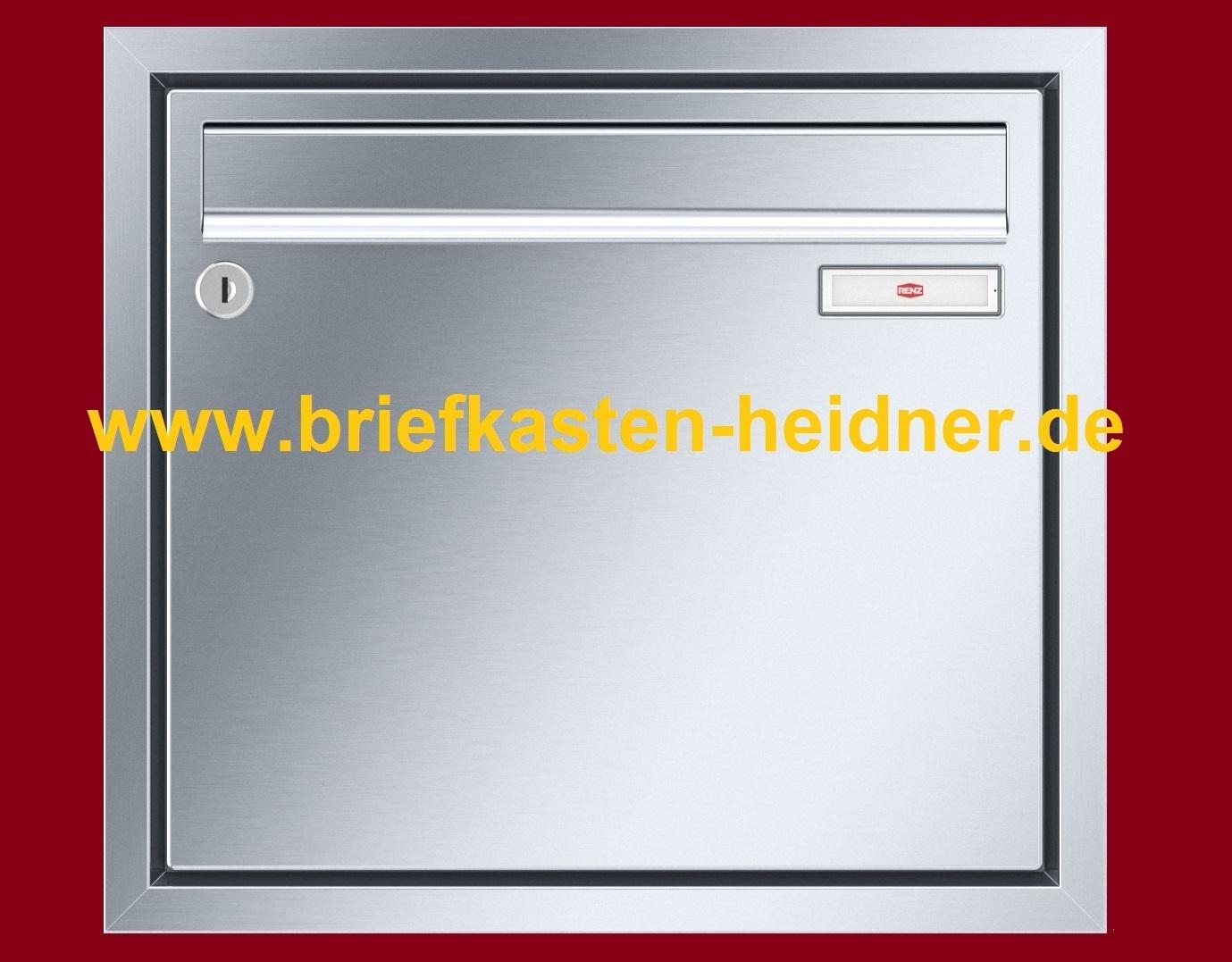 uph170 renz unterputz briefkasten 1 teilig breite 370. Black Bedroom Furniture Sets. Home Design Ideas