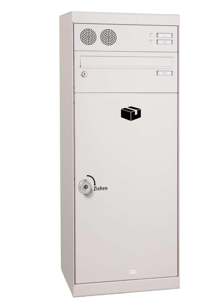 FAH504: freistehende Renz Paket-Brief-Kastenanlage, Stele, QUBO L, Entnahme  vorn, Funktion, Auswahl